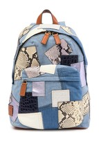 Marc Jacobs Denim Biker Patchwork Backpack MSRP: $550.00 - $326.70
