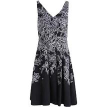 Lauren Ralph Lauren Womens Sz 10 Floral Print Sleeveless B/W Dress 2936-3 - €43,52 EUR
