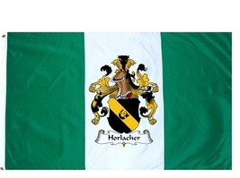 Horlacher Coat of Arms Flag / Family Crest Flag - $29.99