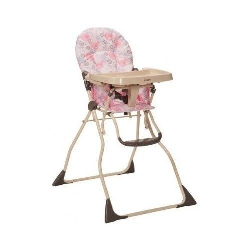 COSCO SLIM FOLD HIGH CHAIR CASEY EASY WIPE BABY ADJUSTABLE SLIM FOLD MEAL SETUP