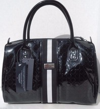 New! Genuine [Tommy Hilfiger] Black Faux Leather Tommy Satchel Handbag  - $74.48