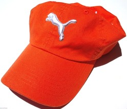 NEW! Vibrant Orange PUMA Men-Women's Golf Tennis Running Cotton Twill Ball Cap - $26.07