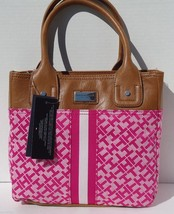 NEW! RARE Pink-Saddle [TOMMY HILFIGER] Shoulder Tote Handbag Small Tommy... - $1.429,80 MXN