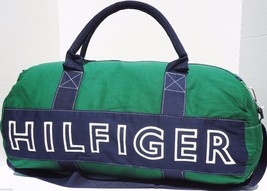 NEW! Green/Navy/White [TOMMY HILFIGER] LARGE Duffle Travel Carry-On Bag - $1.578,08 MXN