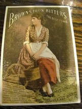 1880s Victorian trade card, Brown's Bitters tonic, printed New York - $12.99