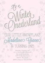 Silver and pink winter wonderland invite thumb200