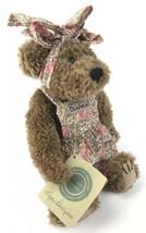"Boyds Bears Collection Liza Berrijam 1999 10"" Plush Bear Bearwear Floral... - $18.71"