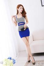 591F041 Sexy elegant ssuit, 2 pcs, top & dress,free size, blue - $18.80