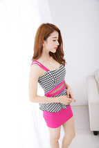 591F041 Sexy elegant ssuit, 2 pcs, top & dress,free size, rosary red - $18.80