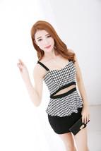 591F041 Sexy elegant ssuit, 2 pcs, top & dress,free size, black - $18.80