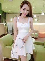 591F046 Sexy sweet strappy tunic blouse w double straps,free size, white - $42.00