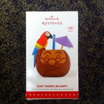 Hallmark 2015 Don't Worry, Be Happy Santa Coconut Mug With Parrot and Pa... - $25.95