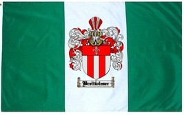 Breitwieser Coat of Arms Flag / Family Crest Flag - $29.99