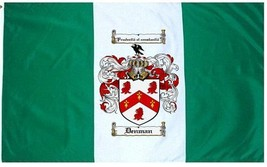Denman Coat of Arms Flag / Family Crest Flag - $29.99