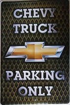 Chevy Truck Parking Only Embossed Metal Sign - $16.95