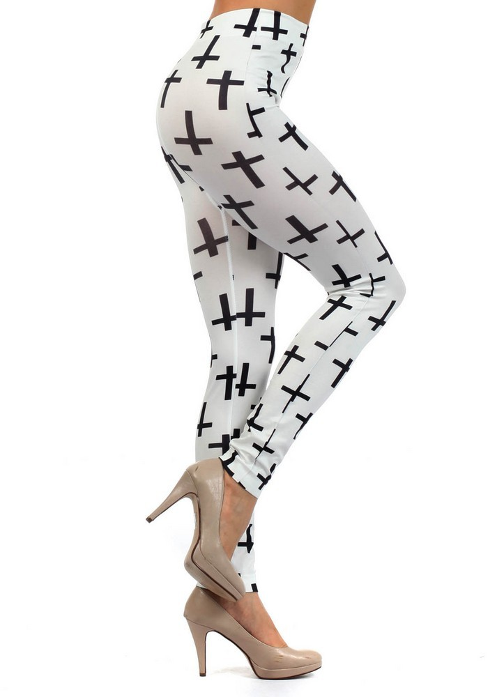 Primary image for Cross Crucifixs Printed Leggings