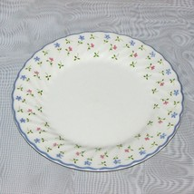 """JOHNSON BROTHER MELODY SALAD CAKE PLATE 7 3/4"""" PINK BLUE FLOWERS JB ENGL... - $5.25"""