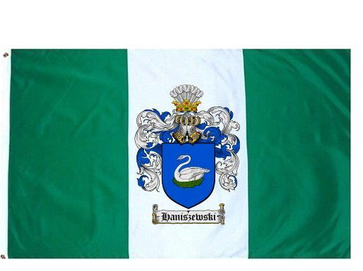 Haniszewski Coat of Arms Flag / Family Crest Flag - $29.99