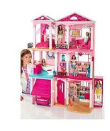Girls Barbie Dream House 3 Floors 7 Rooms Working Elevator Lights Sound ... - $222.48