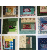 Hand-quilted, handmade quilt, Log Cabin Variant, king or queen size - $825.00