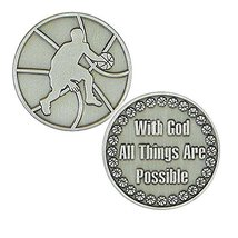 Coins - Basketball Player - All Things Possible - Pewter Set of 6  - $12.85