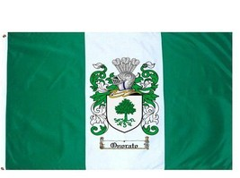 Onorato Coat of Arms Flag / Family Crest Flag - $29.99