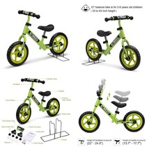 Walking Bicycle With Carbon Steel Frame Adjustable Handlebar And Seat No... - $87.67