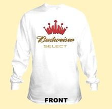 Bud Select Long Sleeve Beer T Shirt S M L XL 2XL 3XL 4XL 5XL  - $23.99+
