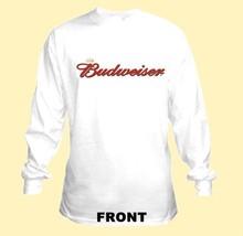 Bud Script Long Sleeve Beer T Shirt S M L XL 2XL 3XL 4XL 5XL Budweiser - $23.99+