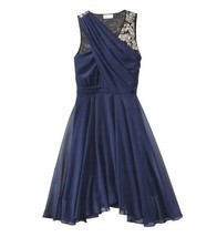 3.1 Phillip Lim For Target Evening Prom Blue Chiffon Sequin Dress Size 6 - $780,94 MXN