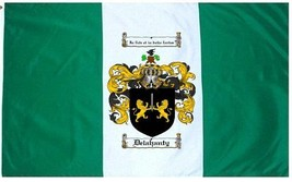 Delahanty Coat of Arms Flag / Family Crest Flag - $29.99