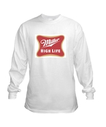 Miller High Life Long Sleeve Beer T Shirt S M L... - $23.99 - $26.99