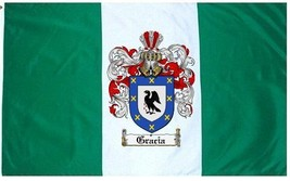 Gracia Coat of Arms Flag / Family Crest Flag - $29.99