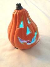 "Orange 7"" Pointed Head Multi-color Lighted Pumpkin Jack-O-Lantern  - $10.94"