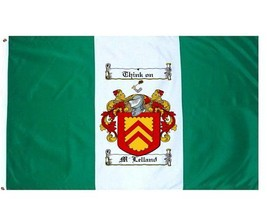 M'Lelland Coat of Arms Flag / Family Crest Flag - $29.99