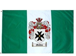 Mathis Coat of Arms Flag / Family Crest Flag - $29.99