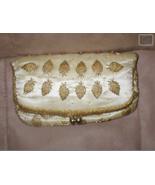 Vintage Cream Satin Gold Beaded Clutch Purse - $54.45