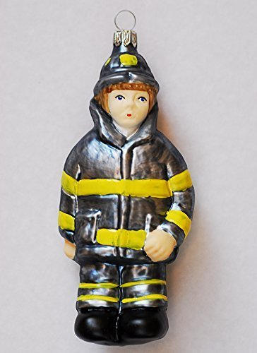 Primary image for Fire Fighter Blown Glass Ornament [Kitchen]