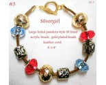 Pandora style leather sp ss 8.25in bracelet  3 thumb155 crop