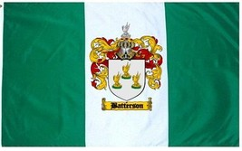 Batterson Coat of Arms Flag / Family Crest Flag - $29.99