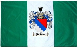 Beradone Coat of Arms Flag / Family Crest Flag - $29.99