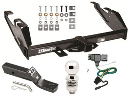 1988 2000 Chevrolet C/K 3500 Complete Trailer Hitch W/ Wiring Kit Ball & Mount - $249.38