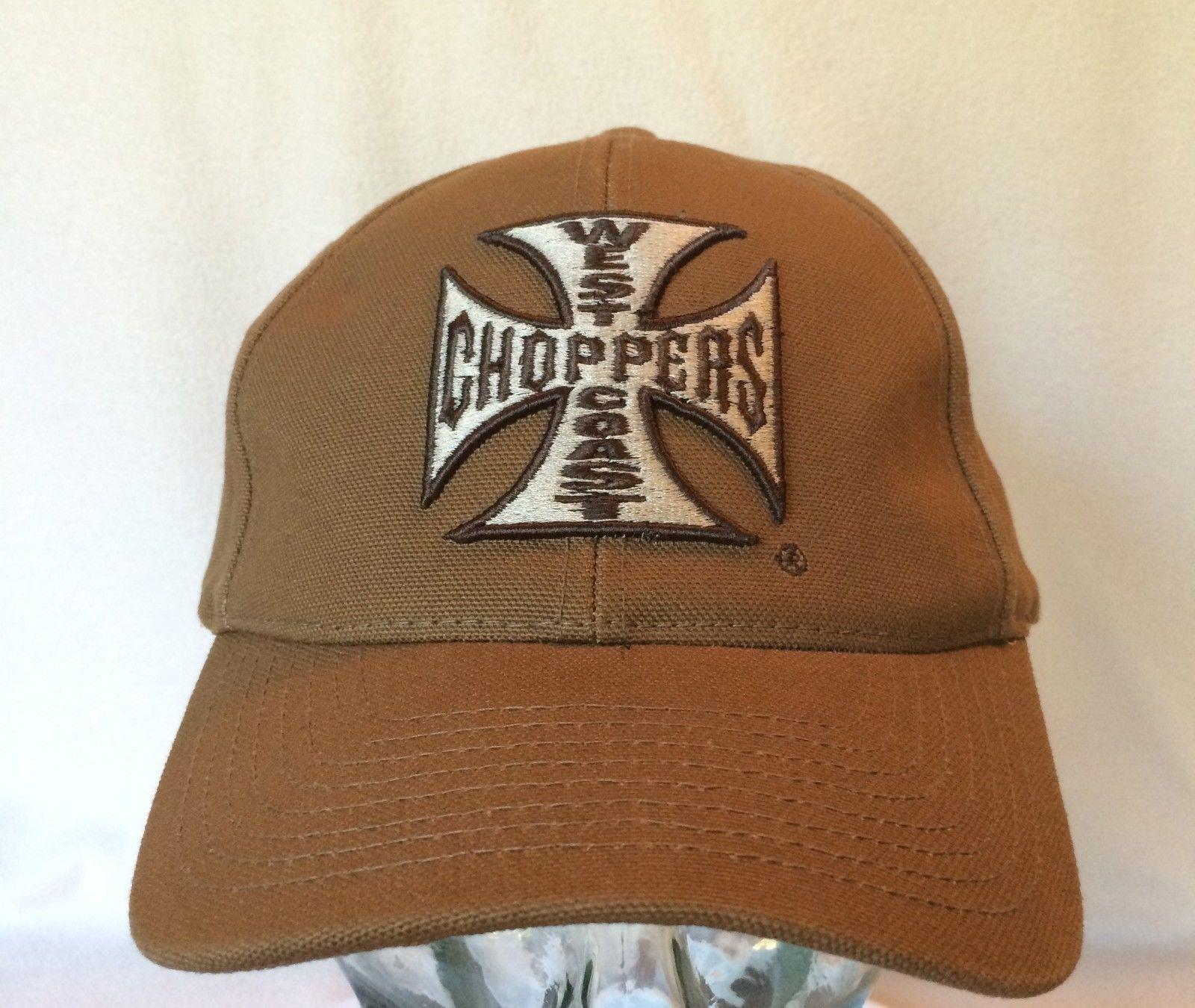 West Coast Choppers Hat Cap Maltese Cross Tan Jesse James Snapback Motorcycle