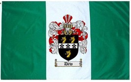 Dew Coat of Arms Flag / Family Crest Flag - $29.99