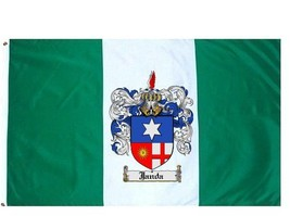Janda Coat of Arms Flag / Family Crest Flag - $29.99