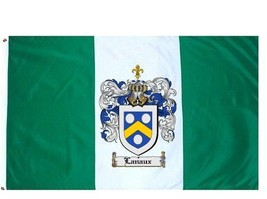 Lanaux Coat of Arms Flag / Family Crest Flag - $29.99