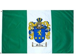 Mcelry Coat of Arms Flag / Family Crest Flag - $29.99