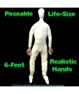 Life Size STUFFED POSABLE MANNEQUIN DISPLAY DUMMY Halloween Costume Prop... - $68.57