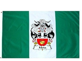 Mena Coat of Arms Flag / Family Crest Flag - $29.99