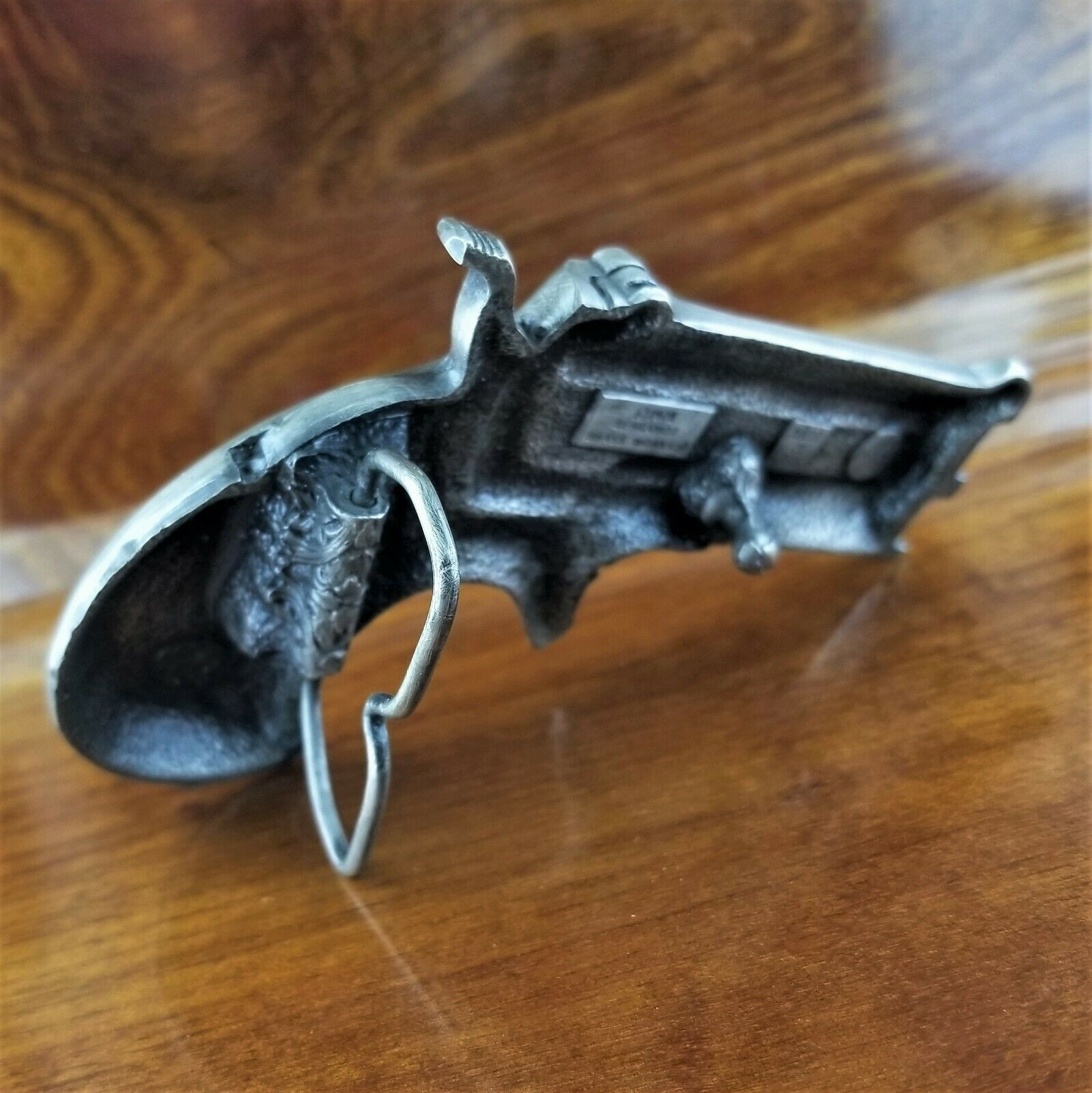 Vintage 1978 Bergamot Brass Works F-156 Derringer Hand Gun Pistol Belt Buckle image 3